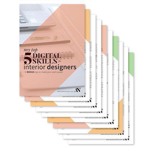 Free Guide To Top 5 Digital Skills For Interior Designers Some Bonus Tips Audrey Noakes In 2020 Interior Design Software Free Interior Design Software Interior Design Presentation