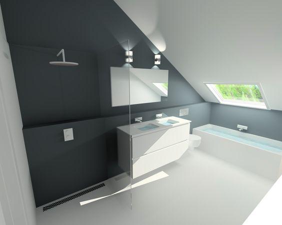 25 203003 gietvloer badkamer douche - Open douche ruimte ...