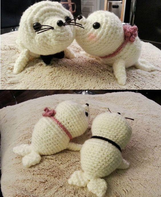 Free Crochet Amigurumi Seal Pattern : Amigurumi, Baby seal and Seals on Pinterest