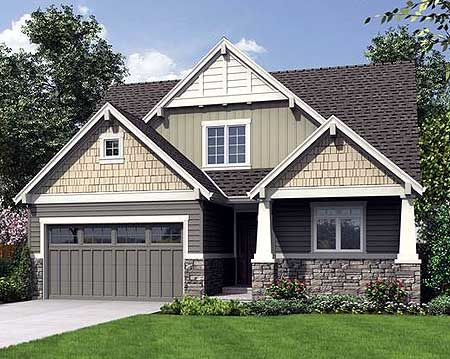 Plan 69527am craftsman cottage with flexible bedrooms for Narrow craftsman house plans