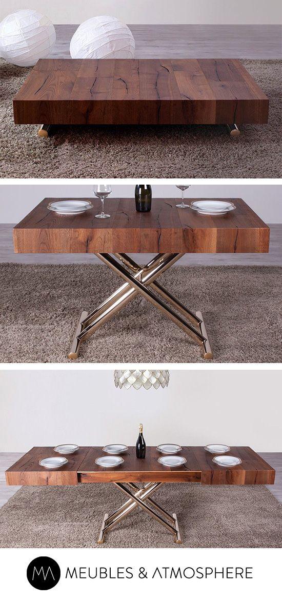 Table Basse Relevable Bois Meubles Et Atmosphere Table Basse Relevable Table Basse Table Basse Transformable
