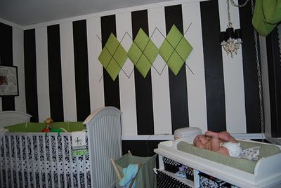 Black, white, and green nursery?