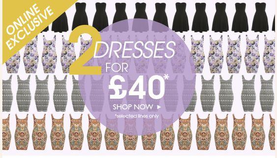 2 Dresses for £40 at Miss Selfridge <3