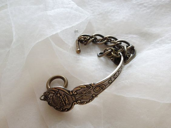 Kansas Souvenir Spoon Bracelet by georginabaker on Etsy, $30.00