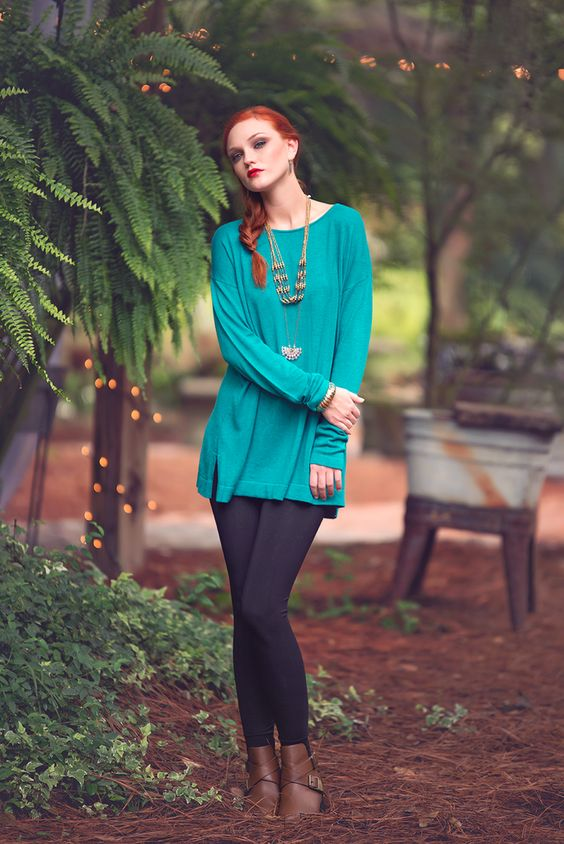 Cabin Creek Top in Turquoise