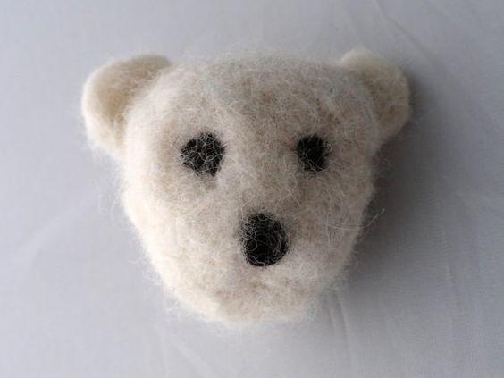 Nadel Gefilzte Eisbär Pin Valentinstag Geschenk