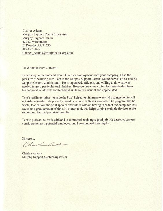 Sample Professional Reference Letter Example  Letters
