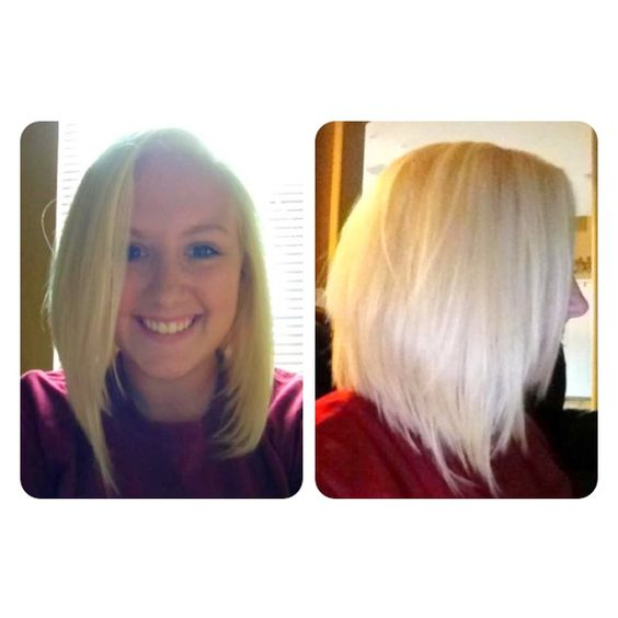 Graduated bob and high-lift blonde #hair