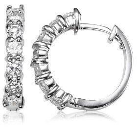 like it: #1: Sterling Silver Cubic Zirconia Hoop Earrings (0.6 Diameter).