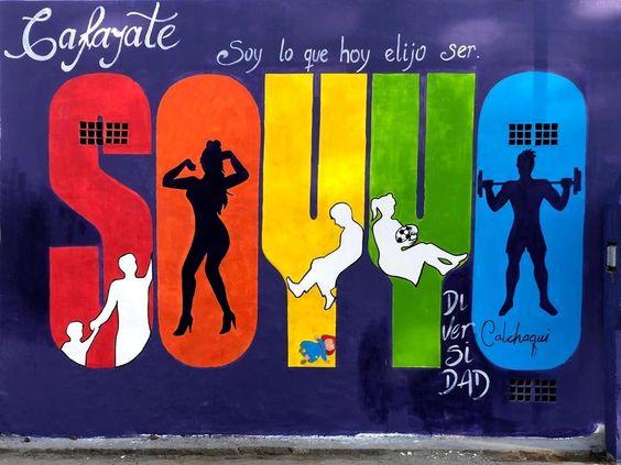Mural realizado en Cafayate por el día internacional del orgullo LGBT, el 28 de junio