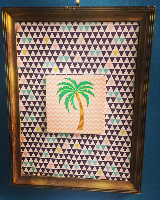 #palme#sommer#bilderrahmen#DIY#