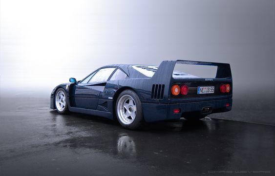 The Mist    Starring: Ferrari F40    (by Chris Wevers)