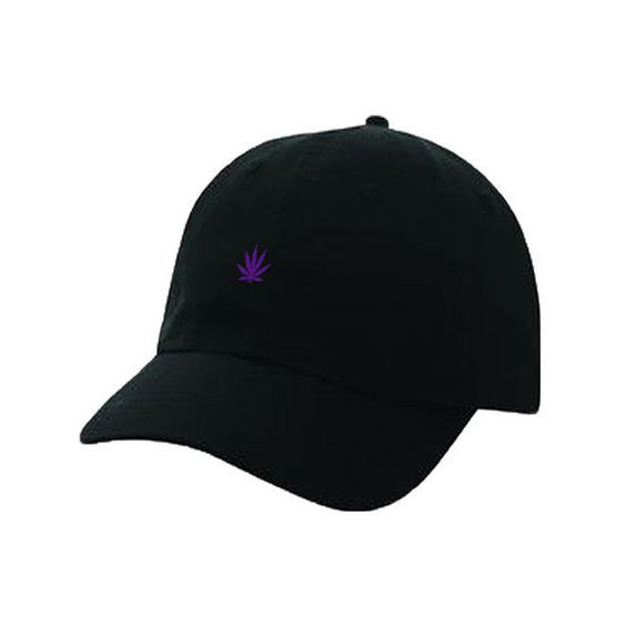Templates The Purple Weed Leaf Dad Hat in Black ($32) ❤ liked on ...