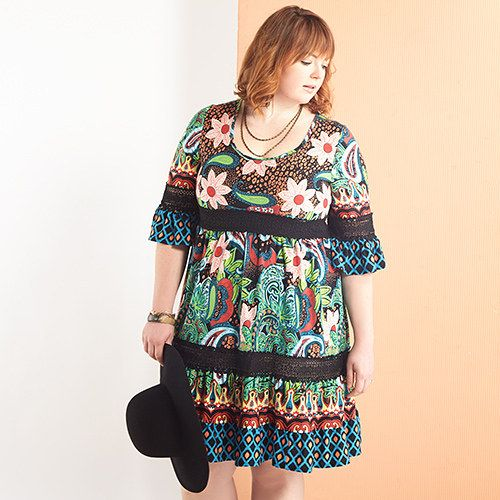 Print Medley: Plus-Size Apparel