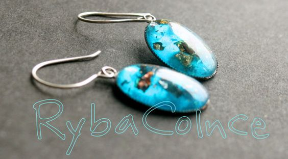 Earring The Turquoise by RybaColnce on Etsy, $18.00
