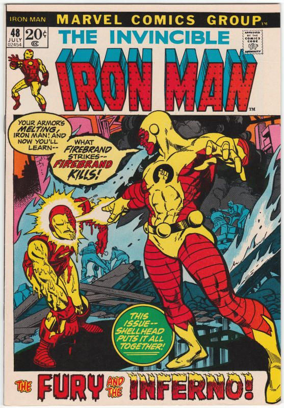 Iron Man #48 NM-, Firebrand appears, Gil Kane cover art. $37