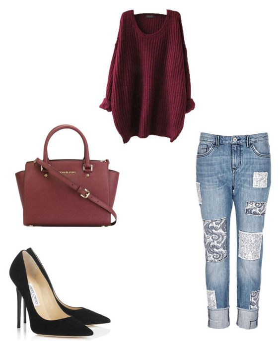"""Untitled #38"" by ajvoecks-1 on Polyvore featuring Jimmy Choo and MICHAEL Michael Kors"