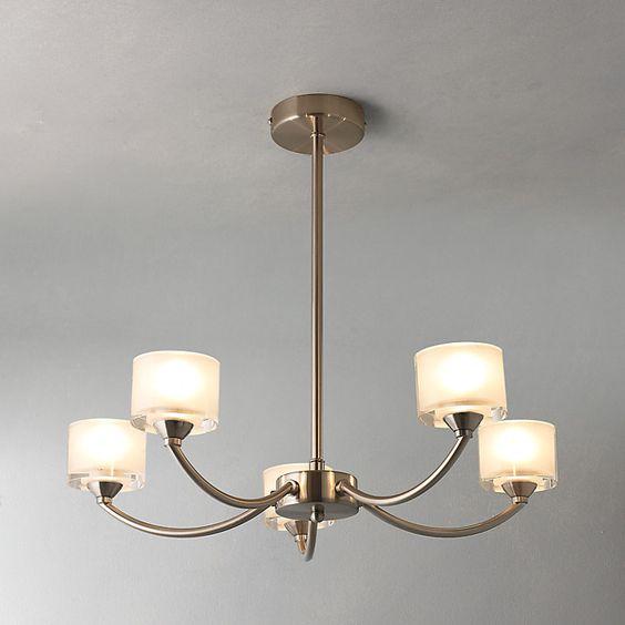 Buy John Lewis Paige Ceiling Light, 5 Arm, Satin Nickel Online at johnlewis.com