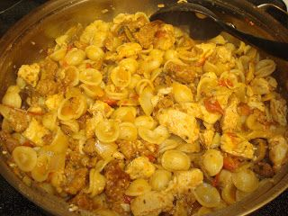 Orecchiette With Spicy Sausage and Chicken | Yummy Recipes | Pinterest ...
