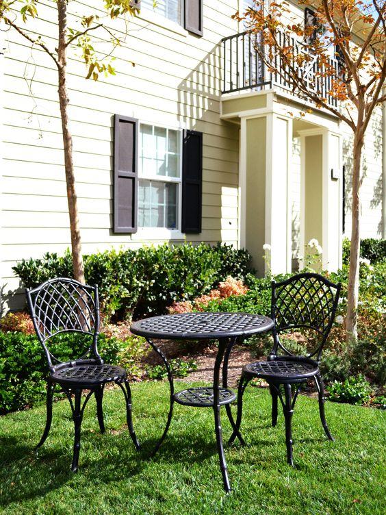 Cast Aluminum Patio Furniture: Metal Bamboo Bistro Set | Gardeners.com: