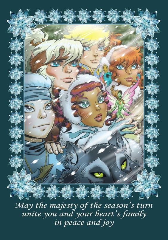 Elfquest holiday card.  Art by Wendy Pini.  More @ http://pinterest.com/ingestorm/comic-art-elfquest & http://groups.google.com/group/Comics-Strips &  http://groups.google.com/group/FantasyMagie & http://groups.yahoo.com/group/fantasy_forum &  http://www.facebook.com/ComicsFantasy & http://www.facebook.com/groups/ArtandStuff