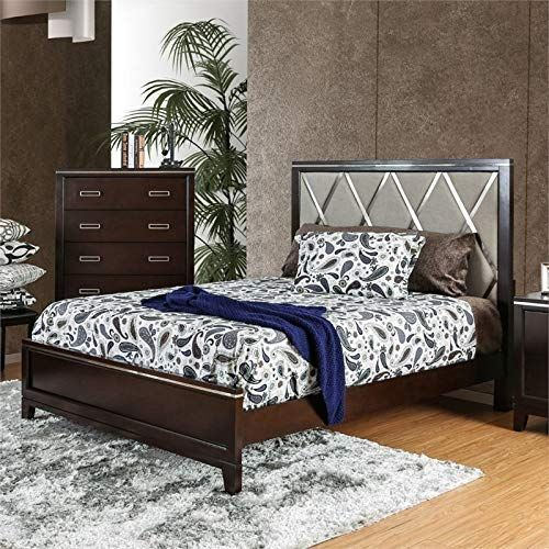New Furniture America Caspien Modern California King Panel Bed