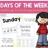FREE Days of the Week Practice Writing Papers. Easy to differentiate, print and go ready. Only at Mrs. D's Corner.