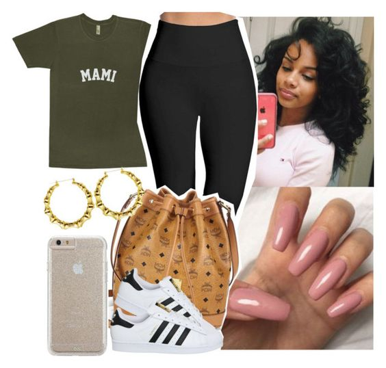 """School 😞😞"" by saucinonyou999 ❤ liked on Polyvore featuring Lyssé Leggings, MCM, adidas and Case-Mate"