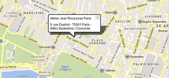 Atelier Jean Rousseau Paris Situated in the heart of Paris, close ...