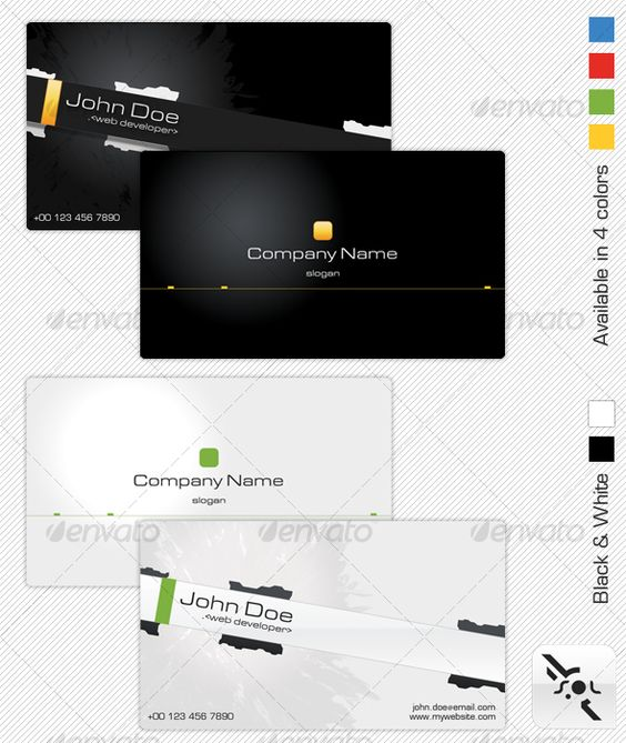 Technology Business Card 2 color schemes each with 4 color variations . 2 PSD files ( Layered ), ready to use, easy to modify. Standard Size 3.5'' X 2 '' 300 dpi and CMYK color. $6