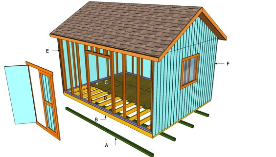 How To Build A 12x16 Shed Howtospecialist How To Build Step By Step Diy Plans Wood Shed Plans Building A Shed Diy Plans