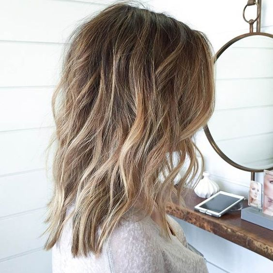 Long Bob (Lob) with Highlights and Lowlights: