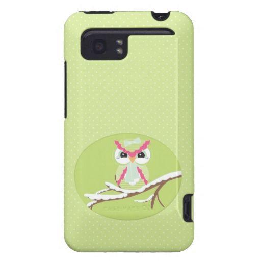 Cute Snow Owl HTC Vivid Tough Case HTC Vivid Cases