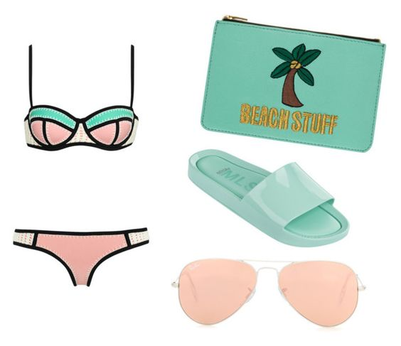 """Beach"" by leesha-henasee ❤ liked on Polyvore featuring Emma Lomax, Cotton Candy, Melissa, Ray-Ban, women's clothing, women's fashion, women, female, woman and misses"