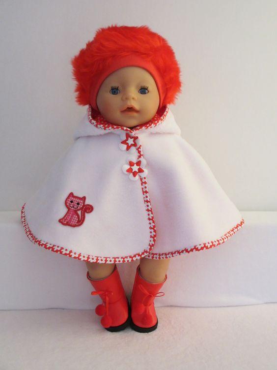 Een poncho voor baby born girl