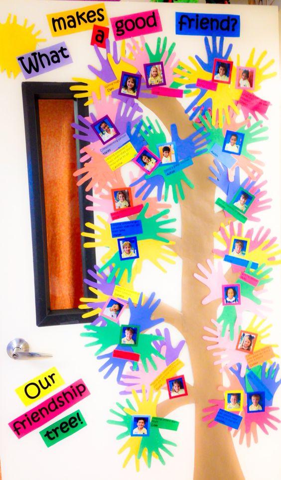 My version of the friendship tree door decor for school