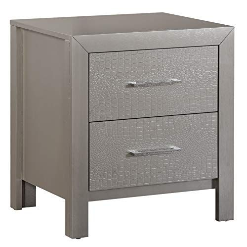 151 Glory Furniture 2 Drawer Nightstand Silver Champagne Glory Furniture In 2020 Space Saving Furniture 2 Drawer Nightstand Bedside Tables Nightstands