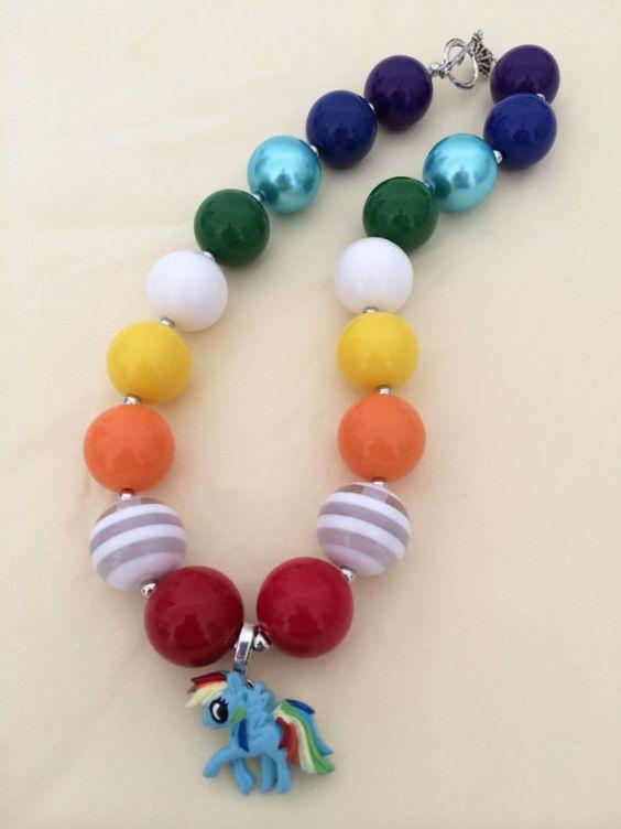 My Little Pony Bubblegum Bead Necklace by CraftyCreationsByLB, $16.00