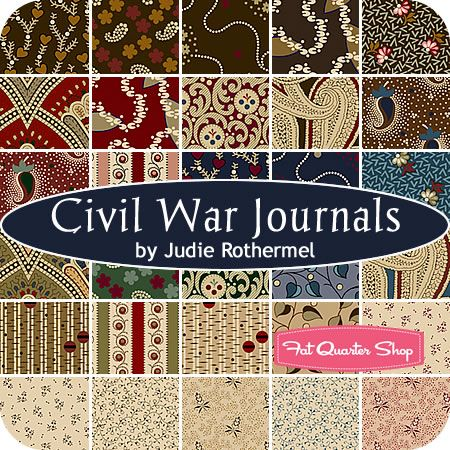 Civil War Journals Fat Quarter Bundle Judie Rothermel For