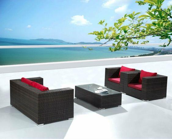 balkon möbel aus rattan - garten lounge | lounge | pinterest, Garten und Bauen