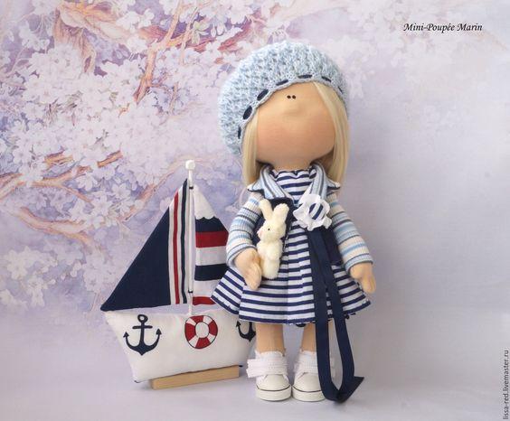 """Купить Куколка  """"Девочка  Marin"""" - куколка, коллекционная кукла, текстильная игрушка, текстильная кукла, молодеж:"""