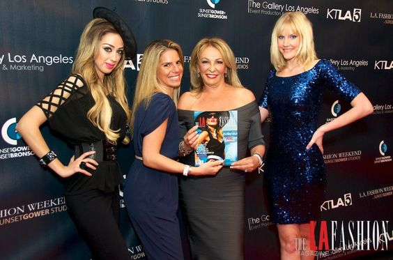 Designer Dina Bar-El on the Red Carpet with the Team and Marina BerBeryan, Celebrity Fashion Stylist
