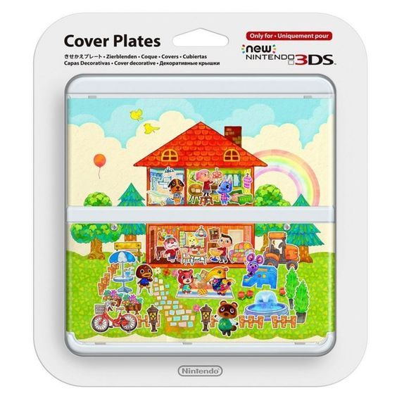 NEW Nintendo 3DS Cover Plate Kisekae plate No.062 Animal Crossing Airmail Japan #Nintendo