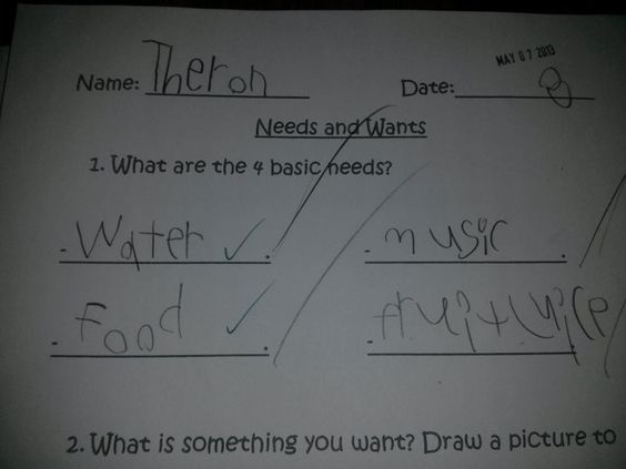 """My little guy is awesome, of course music is one of the """"basic needs"""" ;) lol"""