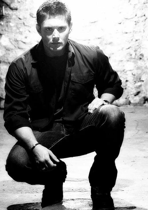 Dean squatting