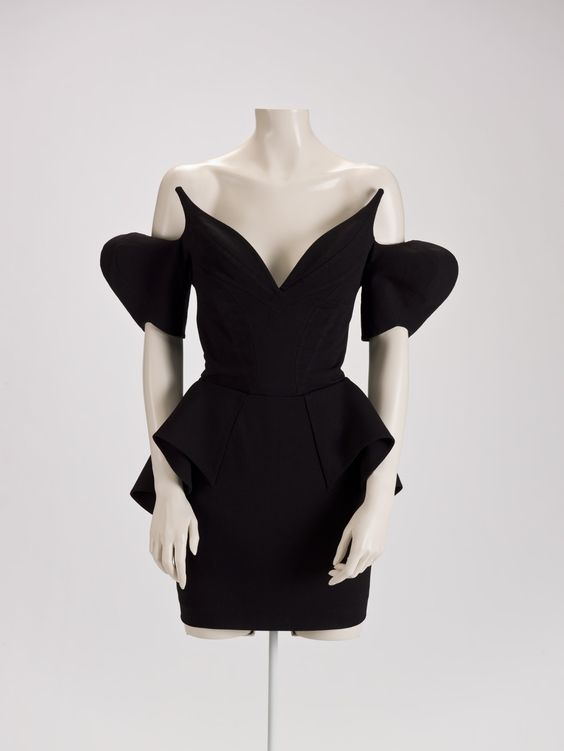 """Thierry Mugler (French, 1948-1981), """"Dress,"""" 1981; Indianapolis Museum of Art, Lucille Stewart Endowed Art Fund, 210.26"""
