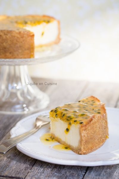 Cheesecake coco et coulis passion