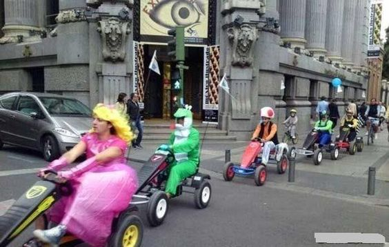 Real life Mariokart. This makes me laugh every single time.