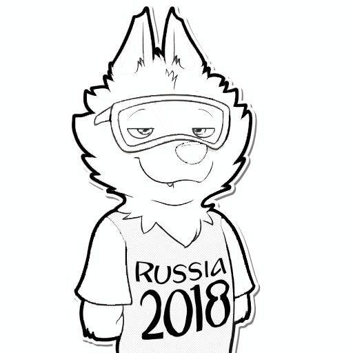Resultado De Imagem Para Mascote Da Copa 2018 Para Imprimir