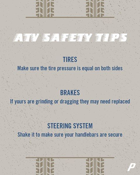 Atv Safety Tips Safety Tips Tips Auto Body Repair
